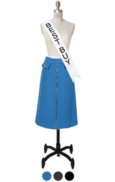 wellmade zipper skirt