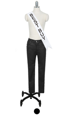 "MUSTBUY COATED BLACK SKINNY <br> <font color=#82C7E4 size=""1.9"" face=verdana>SIZE ADD</font>"