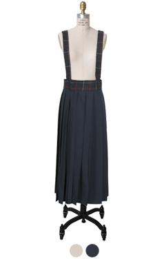 pleated jumper skirt