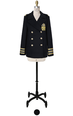 """(LUXE)gold embroidery peacoat <br> <font color=#82C7E4 size=""""1.9"""" face=verdana>RESTORE</font>"""