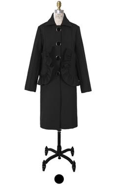 """ruffle pocket coat <br> <font color=#82C7E4 size=""""1.9"""" face=verdana>RESTORE</font>"""