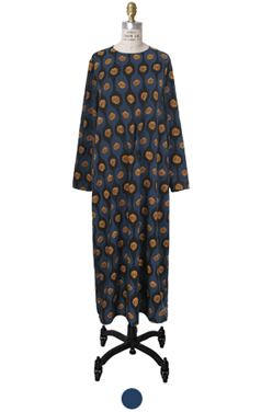center-knot printed dress