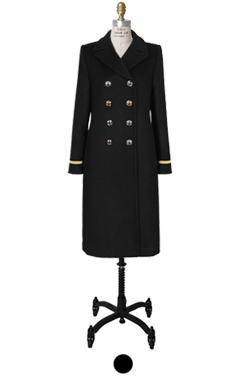 simply black coat