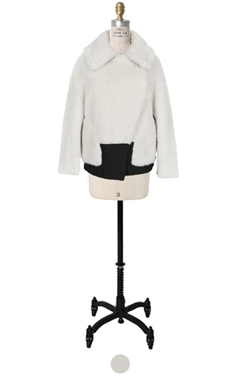 favorite faux-mouton jacket(short)