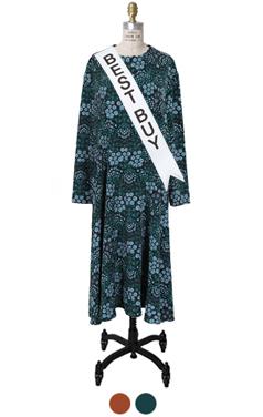 velvet ribbon-tie dress