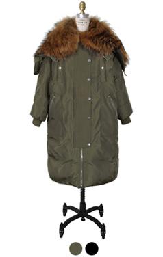 raccoon fur embellished MA-1 parka