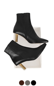 "arch heel ankle boots <br> (3 colors) <br> <font color=#82C7E4 size=""1.9"" face=verdana>COLOR ADD</font>"