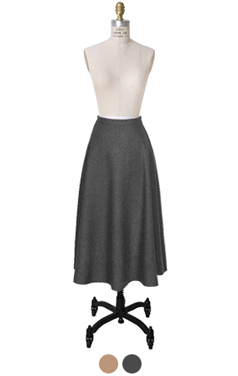 wool-blend flared skirt