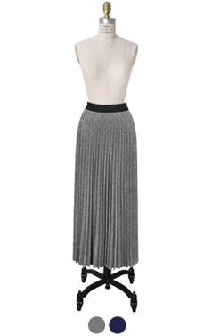 metalic pleated MAXI skirt
