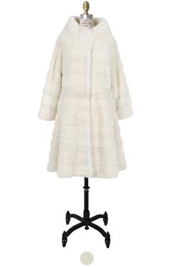 snowwhite horizontal mink fur coat