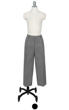 "houndtooth check double-lining pants <br> <font color=#82C7E4 size=""1.9"" face=verdana>SIZE ADD</font>"