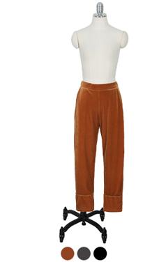 velvet pajama pants