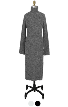 cashmere blended knitted dress