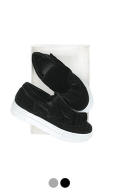 "ruffle embellished slipon sneakers <br> <font color=#ff9999 size=""1.9"" face=verdana>BEST BUY</font>"