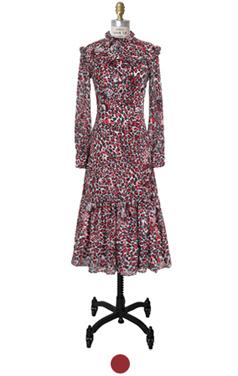 romantic leopard dress
