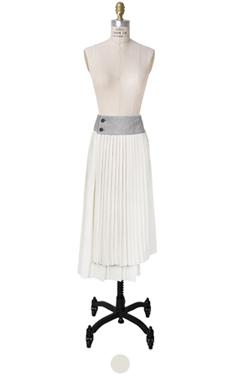 pleated wrap stitch skirt