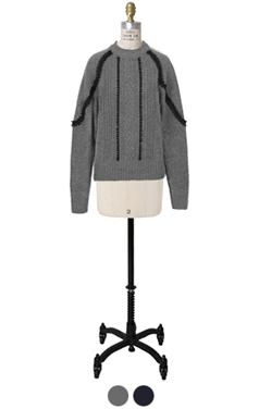 torsion embellished sweater
