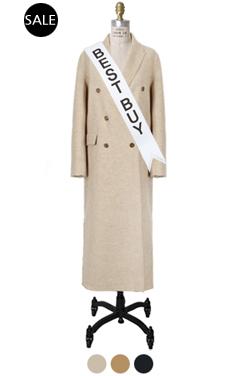 handmade side-cut maxi coat