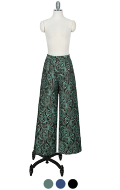 paisely brocade wide pants
