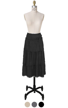 dolly pleated tiered skirt