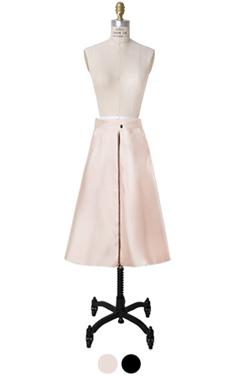 elegant A-line satin skirt