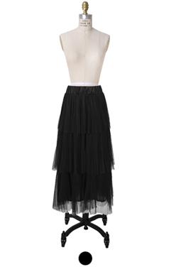 tutu tiered long skirt