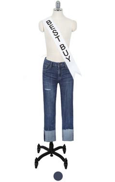 "favorite roll-cuff straight denim <br> <font color=#82C7E4 size=""1.9"" face=verdana>SIZE ADD</font>"
