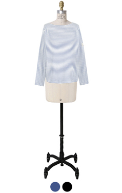 everyday boat-neck striped tee