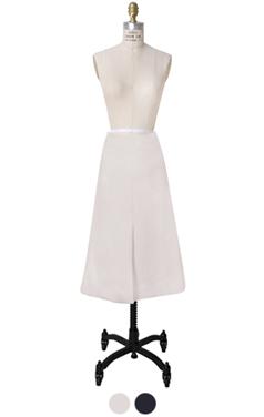 front slit A line skirt