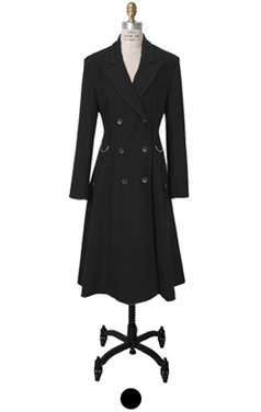 D-ring belted flare coat