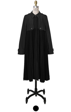 maison pleated trench
