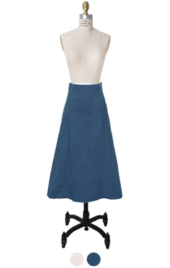 O-ring pocket midi skirt