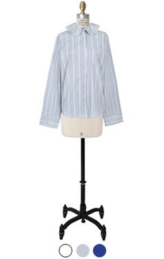 avangarde frilled neck shirts