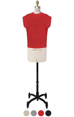 drop-shoulder knit vest