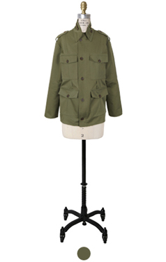 bustle back military jacket