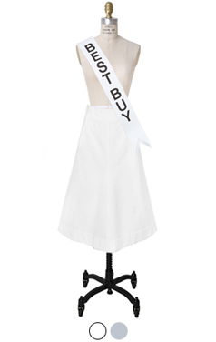 pocket-back Aline skirt