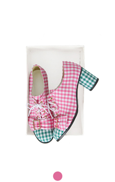 gingham check oxford pumps
