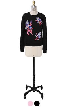 flower embroidery sweatshirts