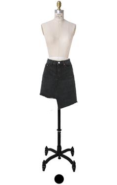 unbalance-hem mini skirt