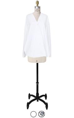 v-neck wrap slit shirts