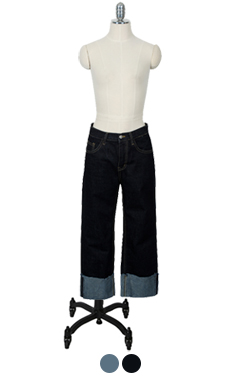 BOYISH INDIGO ROLL UP DENIM