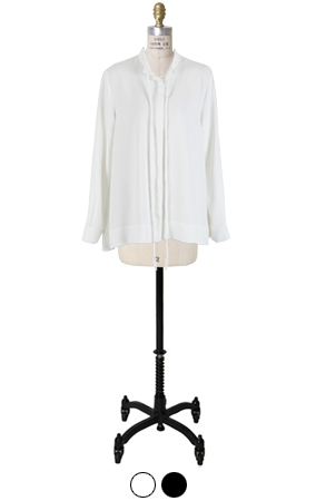 laurent slimfit tie blouse