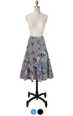 stella flower printed skirt
