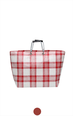 plaid handle bag
