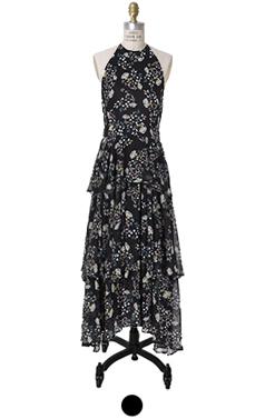 flower tiered maxi dress