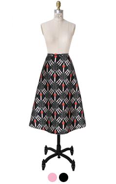 printed origami Aline skirt