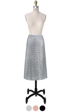 easy-fit sequinn skirt