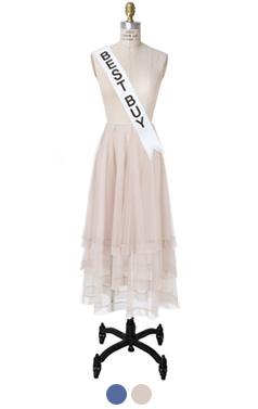 """ROCHA TIERED TULLE SKIRT <br> <font color=#ff9999 size=""""1.9"""" face=verdana>BEST BUY</font>"""