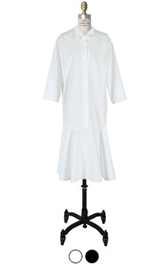 flared-ham shirtdress