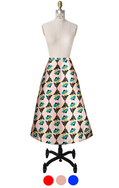 artdeco flower skirt
